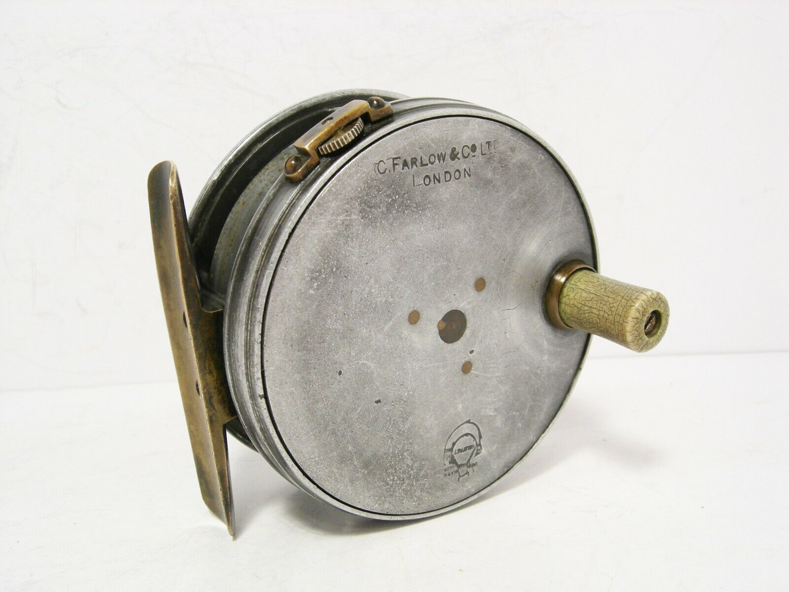 Vintage Antique Farlow 3  Claw Check Trout Fly Fishing Reel - Perfect Pattern