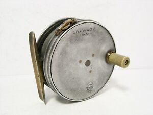 Vintage-Antique-Farlow-3-034-Claw-Check-Trout-Fly-Fishing-Reel-Perfect-Pattern