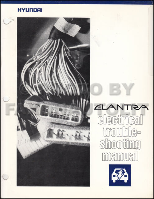 1992 Hyundai Electrical Troubleshooting Manual Original