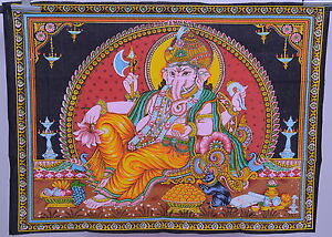 ganesha wall hanging hindu elephant god painted ganesh