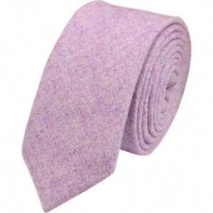 b9e89dfd275a Image is loading Vintage-Purple-Mens-Tweed-Wool-Skinny-Tie-Excellent-