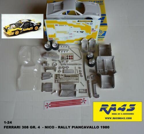 1//24 Ferrari 308 Gr.4 Rally Piancavallo 1980 Nico Kit