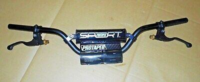 HONDA  TRX90 TRX90X,TRX90EX BLACK PRO TAPER SPORT HANDLEBAR BARS /& BRAKE LEVERS