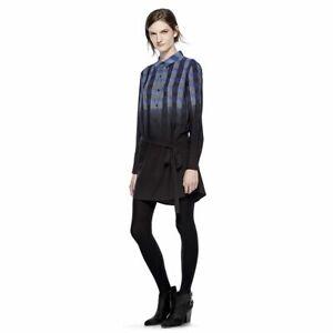 Nwt Thakoon Black Plaid Dot Shift Dress Womens Small
