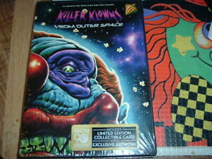 Killer-Klowns-From-Outer-Space-DVD-NEW-Grant-Cramer-special-collector-card-ART