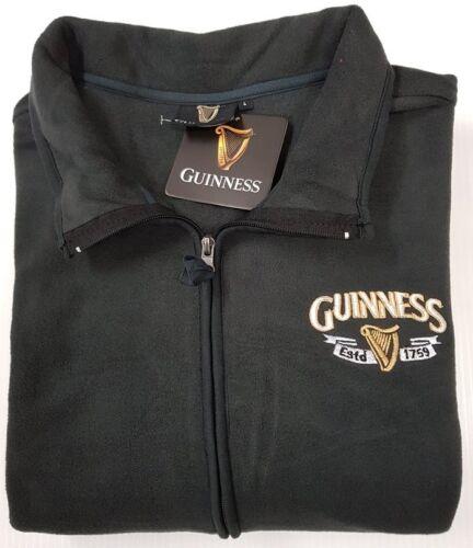 Charcoal Grey Guinness Official Merchandise Harp Trademark Fleece Men/'s Jacket
