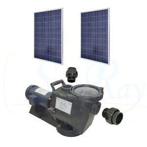 Sunray solflo1 solar pool pump with 60vdc pv solar power for above ground pools ebay for Solar powered swimming pool pumps