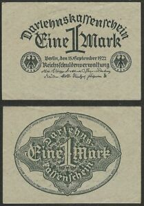 GERMANY-1-mark-1922-P-61-Europe-banknote-Edelweiss-Coins