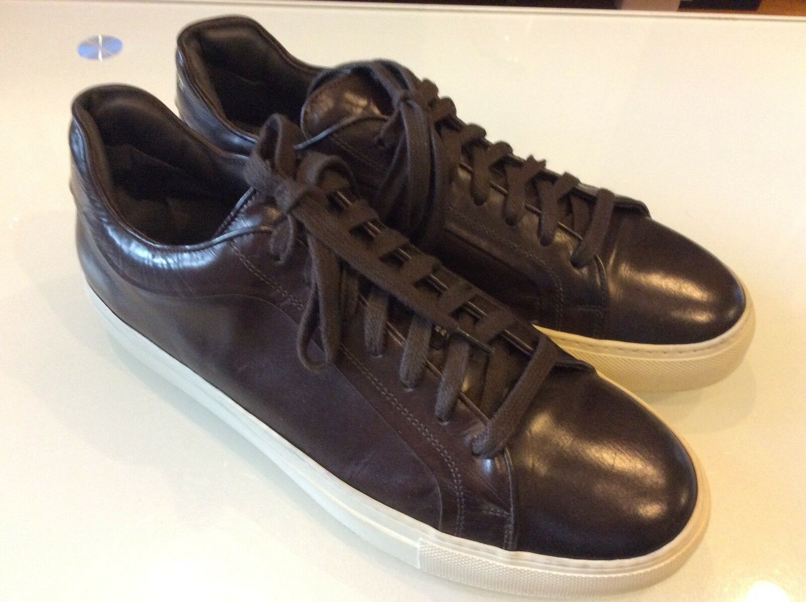 1a998e0f6d5 New York Marshall Mens Brown Leather Sneakers Size 8.5 To Boot ...