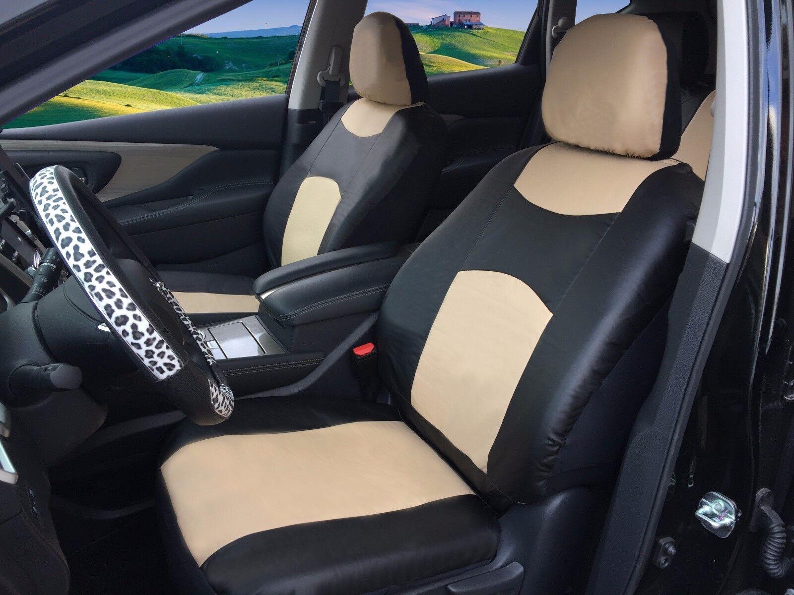 Leatherette Seat Belt Shoulder Pads DS Black LEATHER