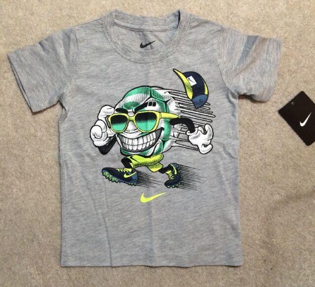 66da10ba692 Nike Boy s Training Short Sleeve Baseball Graphic Tee Shirt Grey 4 ...