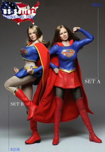 1//6 Supergirl Head Sculpt TBLeague PHICEN SEAMLESS Figure Doll Set ❶ USA en stock ❶