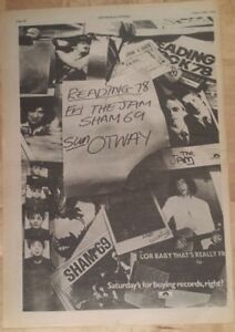 Reading-festival-Jam-sham-69-otway-1978-press-advert-Full-page-28-x-39-cm-poster
