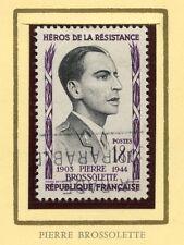 STAMP / TIMBRE FRANCE OBLITERE N° 1103 HEROS DE LA RESISTANCE / BROSSOLETTE