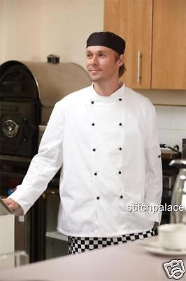 Intellective Dennys Lightweight Chef Jacket Removable Stud All Sizes Xxs-3xl Free White Studs Other Men's Clothing