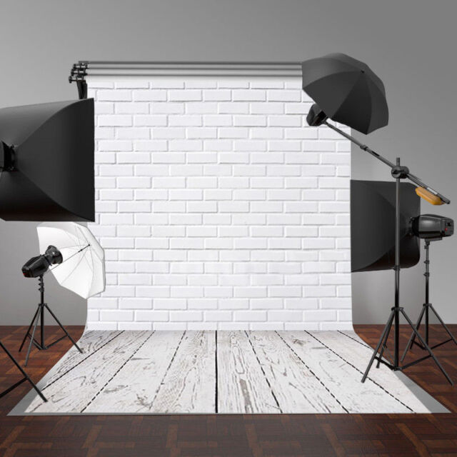 3x5ft White Brick Wall Indoor Photography Backgrounds