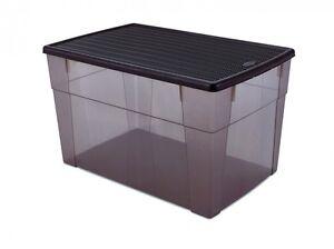 Xxl Kunststoffbox Lagerbox Aufbewahrungsbox Box Deckel Kiste Rattan