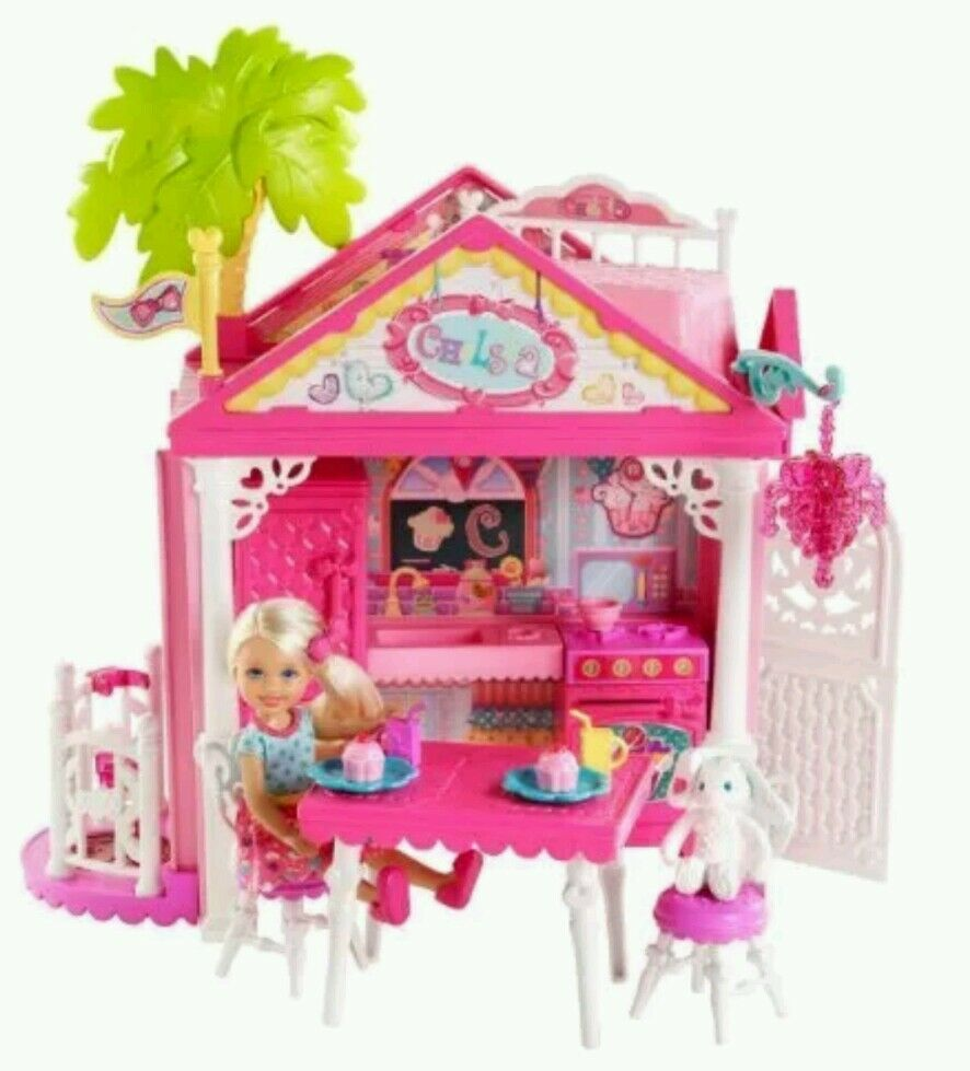 New Barbie Chelsea Kelly Doll Clubhouse Playset Girl Toy Holiday Gift Game