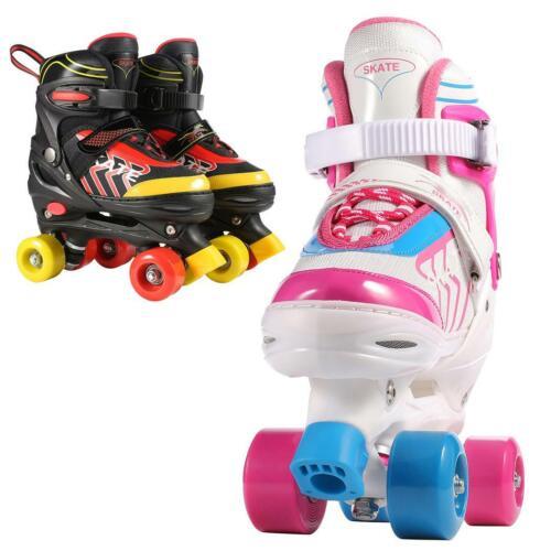 Details about  /Roller Skates for Kids Adjustable Size PVC Wheel Triple Lock Mesh Breathable