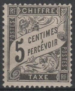 FRANCE-STAMP-TIMBRE-TAXE-N-14-034-TYPE-DUVAL-5c-NOIR-034-NEUF-xx-TTB-P017