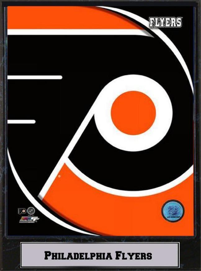 Philadelphia Flyers Logo Photo Murale Bois Glace 30 cm, Plaque NHL Hockey sur Glace Bois , 121107