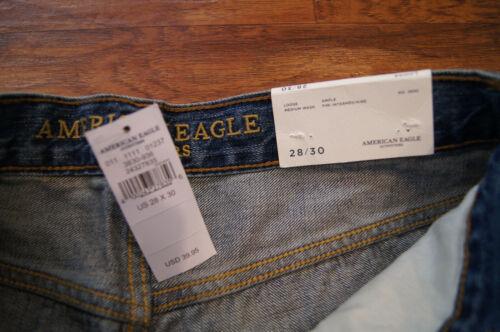 Lavage Moyen Loose nwt Jeans Demin 28 American ~ Moyen Eagle 30 Fit Taille q8ZcRxza