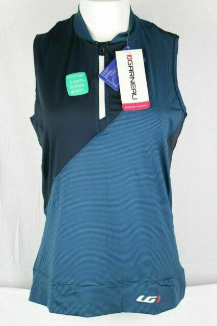 Louis Garneau Women's Stella Cycling Sleeveless Jersey Shirt Blue 1025170