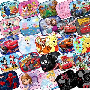 2x-Disney-Car-Sun-Shades-UV-Baby-Children-Kids-Window-Minnie-Peppa-Winnie-Frozen