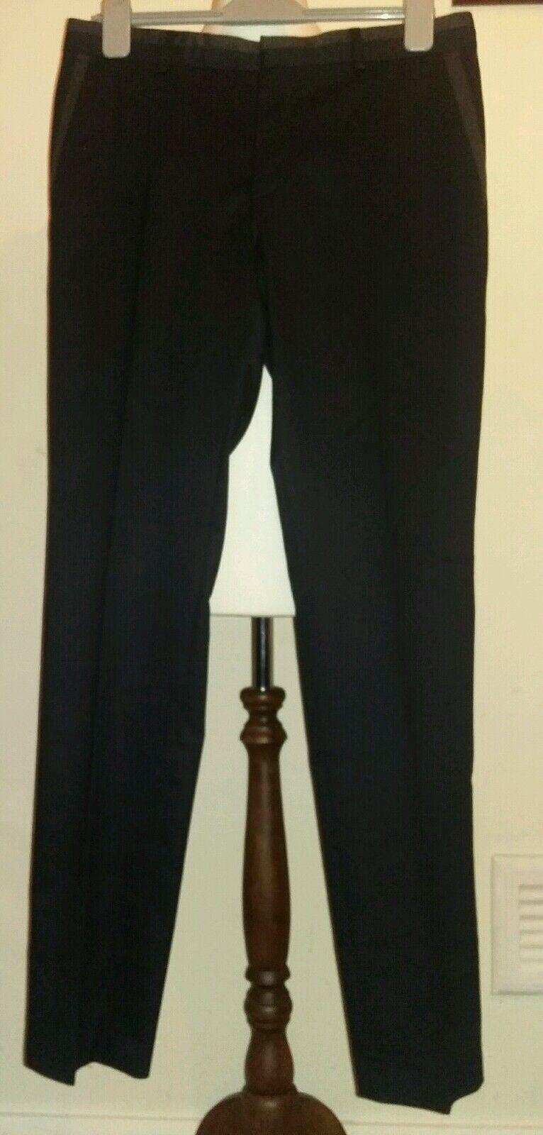 Peter Werth Edizione Pantaloni Grigio Antracite Taglia 32W 33L RRP -