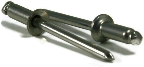 POP Rivets ALL Steel 42C 1//8 x 1//8 Grip Countersunk Head USA Made Qty 250
