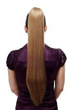 Haarteil/Zopf sehr lang glatt Butterfly-Klammer 70 cm blond dunkelblond T113-14