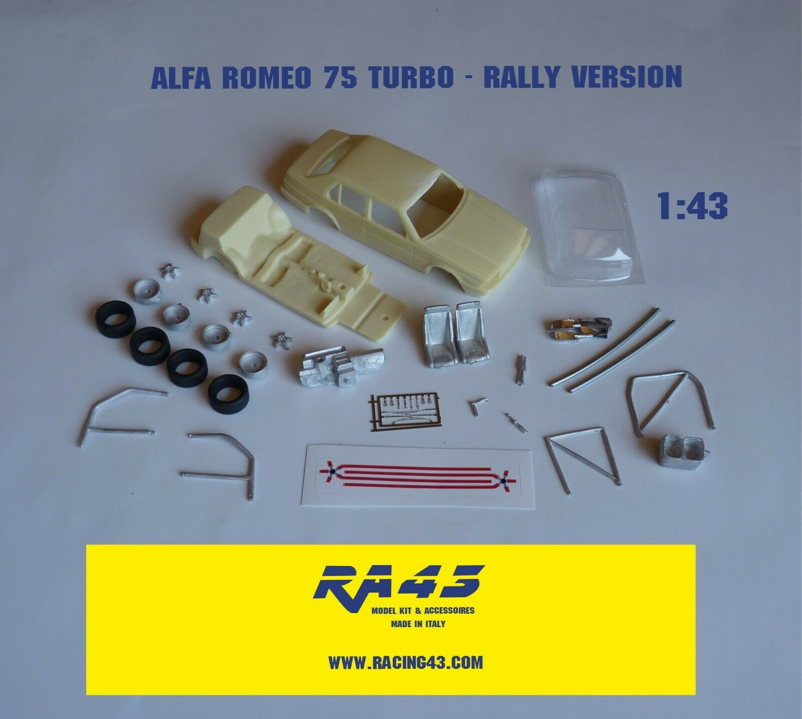 1 43 Kit ALFA ROMEO 75 TURBO BOSSINI RtuttiY 1000 MIGLIA 1987