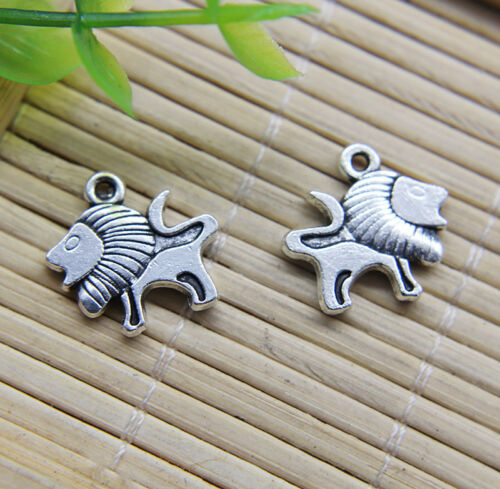 20~50pcs Retro Cute Lion Alloy Charms Pendant Jewelry Making DIY 16*15mm
