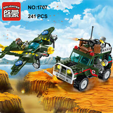 Enlighten 1707 Military Army Bomber Jeep Car Building Block Toys blocks toy
