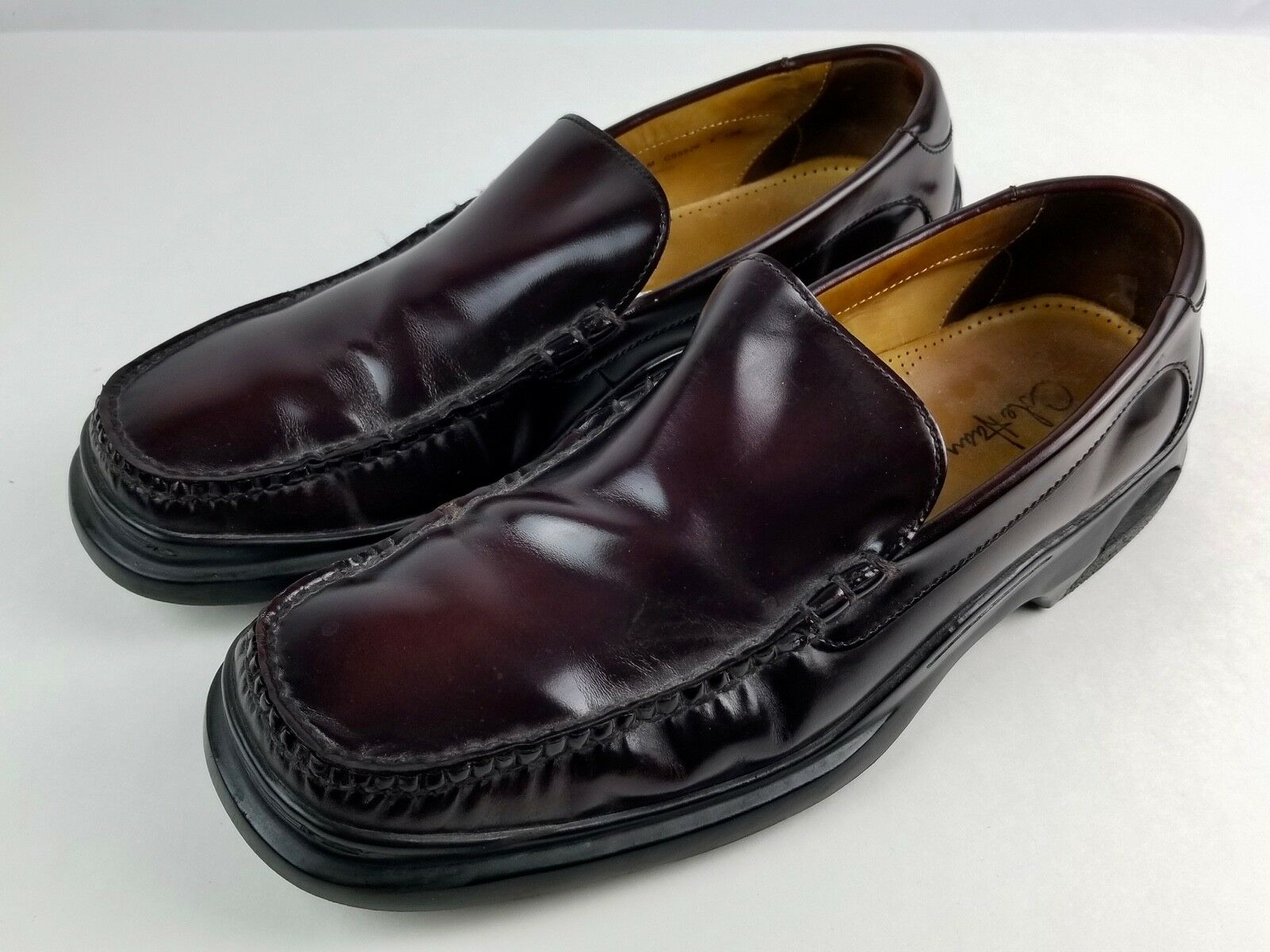 Cole Haan Men's Burgundy Slip-on loafers Size 10.5 M Dress shoes VG condition