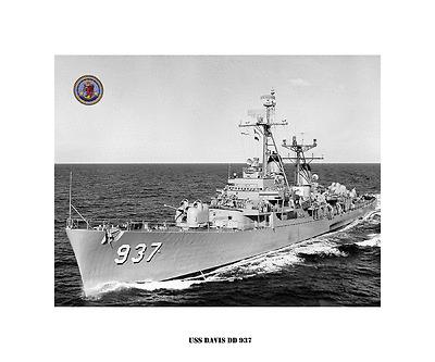 US Naval Destroyer USN Navy Ship Print USS MUSTIN DD 413