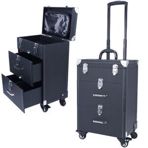 Image is loading Beauty-Nail-Technician-Dresser-Makeup-Vanity-Case-Cosmetics -