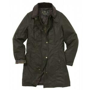 BARBOUR-belsey-Cera-Cotone-Giacca-in-Oliva