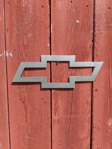 "Chevy Bowtie 16/"" x 6/"" Bare Metal CNC Plasma Metal Art Sign"