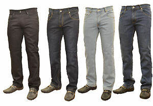 NEW-MENS-STRAIGHT-LEG-DARK-BLUE-JEANS-ALL-WAIST-SIZES-SLIM-FIT-REGULAR-COMFORT
