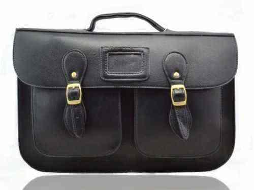 Ladies Girl Large Medium Vintage Work Briefcase Back School Satchel Shoulder Bag