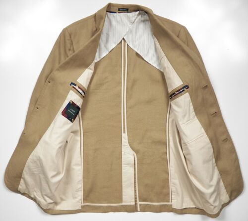 Nwot Jacket Blazer Linen Lux Beige Coat J Mens 42 Irish Luxury L Khaki crew 100 fB4YXqw5
