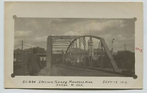 1910-Bridge-Moorhead-MN-Fargo-North-Dakota-Candid-Real-Photo-Postcard-RPPC