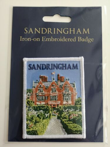 New and Sealed Sandringham House Souvenir Embroidered Iron-On Badge Patch