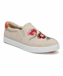 NEW-DR-Scholls-Palomino-Diva-Scout-Suede-Sneaker-Floral-embroidery-slip-on-shoe