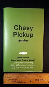 1980-CHEVY-Pickup-Original-NOS-Owners-Manual-Kit-Excellent-Condition-US