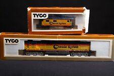 Tyco HO Chessie System ALCO Super 630 Diesel Locomotive & Caboose in Box