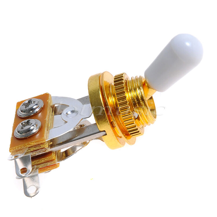 10pcs electric guitar 3 way toggle switch guitar pickup selector switch gold 634458452700 ebay. Black Bedroom Furniture Sets. Home Design Ideas