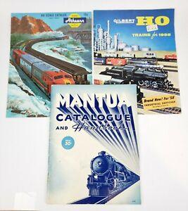 Lot-Of-3-Vintage-HO-Scale-Train-Catalogs-Books-Mantua-Athearn-Gilbert