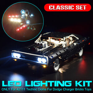 For-LEGO-42111-Technic-Doms-For-Dodge-Charger-Bricks-LED-Light-Lighting-Kit-ONLY